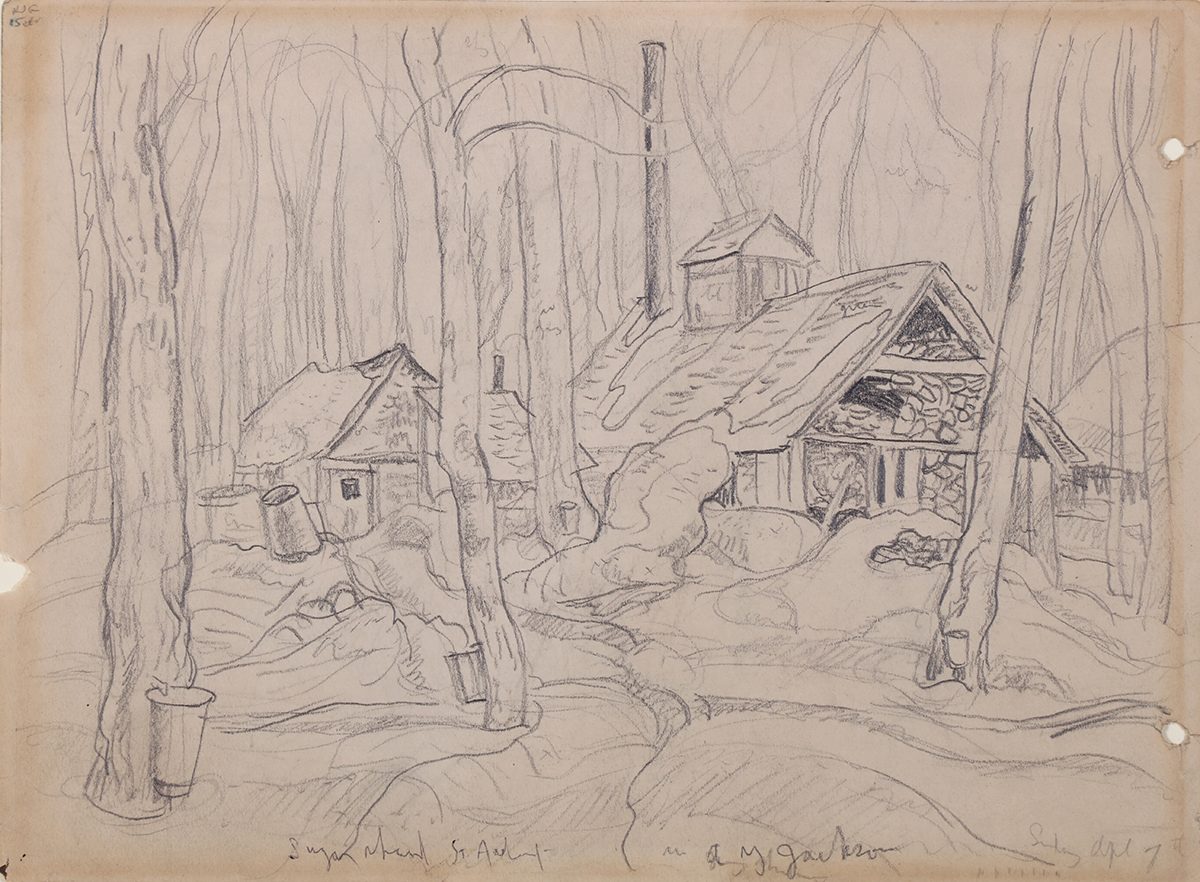 Page from a Sketchbook: Sugar Shack in Quebec